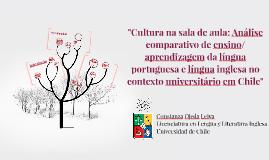 Cultura na sala de aula: Análise comparativo de ensino/ apre