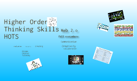 Copy of Web 2.0and Higher Order Thinking Skills