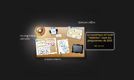 Usage des tablettes dans les programmes de 2015