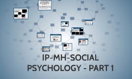 SOCIAL PSYCHOLOGY - PART 1- SOCIAL THINKING & SOCIAL INFLUENCE