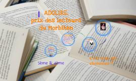 ADOLIRE, prix des lecteurs du Morbihan