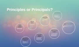 Principles or Principals?