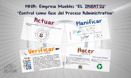 "PHVA- Empresa Muebles ""EL ZAIBATSU"""
