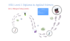 Copy of BTEC Level 1 Diploma in Applied Science