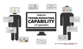 Inadequate troubleshooting capability in IT organizations