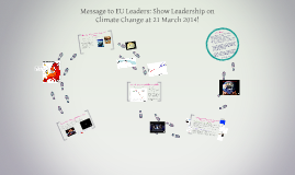 Copy of Message to EU Leaders: Show Leadership on Climate Change!