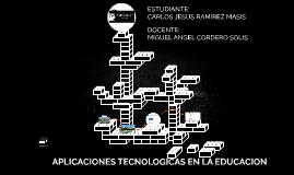 APLICACIONES TECNOLOGICAS EN LA EDUCACION