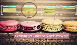 Grammatica - meewerkend voorwerp
