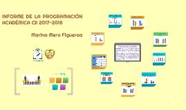 INFORME DE LA PROGRAMACIÓN ACADÉMICA CII 2017-2018