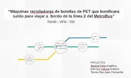 """""""Máquinas recicladoras de botellas de PET que bonificara sal"""