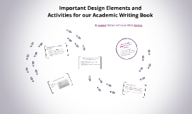 Design Elements and Activities: