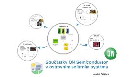 Součástky ON Semiconductor v ostrovním solárním systému