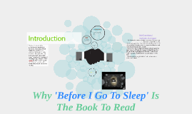 Why 'Before I Go To Sleep' Is The Book To Read