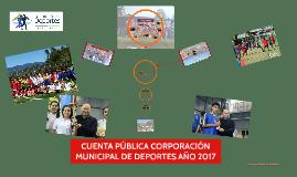 CUENTA PÚBLICA CORPORACIÓN DE DEPORTES 2018