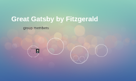 Great Gatsby by Fitzgerald