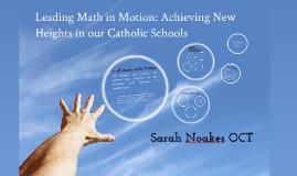 Leading in Mathematics-Sarah Noakes
