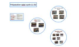 Préparation mini cycle L1 S2