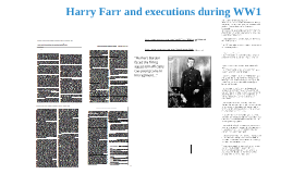 Harry Farr and executions in WW1