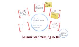 Lesson plan writing skills