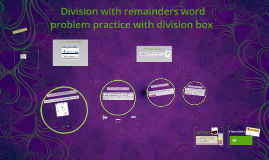 Division with remainders practice
