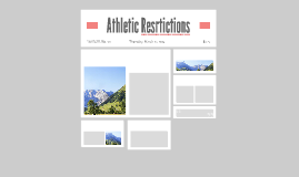 Athletic Resrtictions