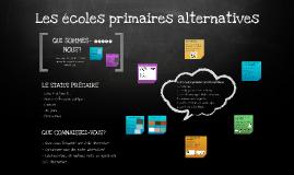 Copy of Les écoles primaires alternatives