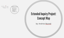 Extended Inquiry Project: Concept Map