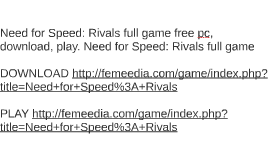 Need for Speed: Rivals full game free pc, download, play. Ne