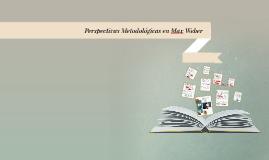 Perspectivas Metodológicas en Max Weber