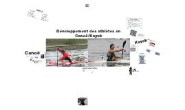Développement des athlètes en Canoë/Kayak