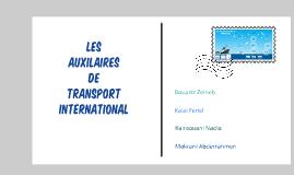 Les auxiliaries de transport international