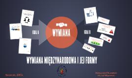 WYMIANA MIĘDZYNARODOWA I JEJ FORMY