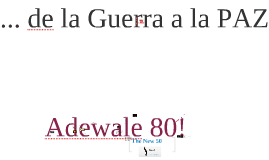 Adewale 80!