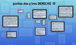 PUNTO UNO Y DOS DE DERECHO  III