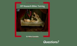 CIF Ethics Training 2017