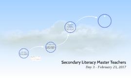 Secondary Literacy Master Teachers