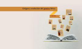 Copy of Origen y evolución del genéro lírico