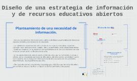 Diseño de una estrategia de información y de recursos educat
