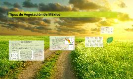 Tipos Vegetación de México