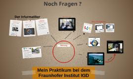 Mein Praktikum bei Fraunhofer