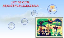 • La ley de ohm. Resistencia eléctrica.