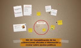 NIC 20: Contabilización de las subvenciones oficiales e Info