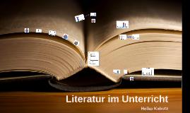 Literatur im Unterricht