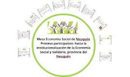 Presentación Mesa Economía Social de Neuquén