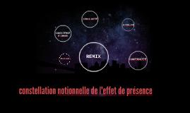 constellation notionnelle de l'effet de présence