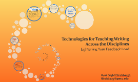 Technologies for Teaching Writing Across the Disciplines
