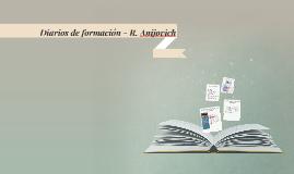 Diarios de formación - R. Anojovich