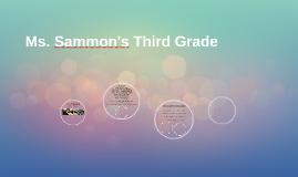 Ms. Sammon's Third Grade
