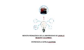 Copy of REVISTA PEDAGÓGICA DE LA UNIVERSIDAD DE LASALLE. (BOGOTÁ COL
