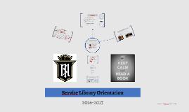 Servite Library Orientation